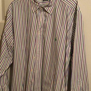 Multi color striped button down Ralph Lauren